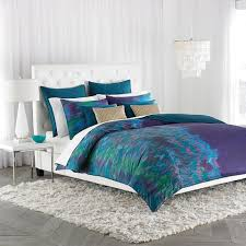 purple green and blue comforter set