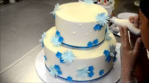 How To Decorate A Two Tier Cake With Fondant Flowers Youtube