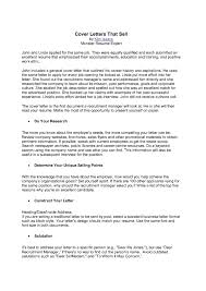 Resume Example Of Cover Letter Format How To Put Sales