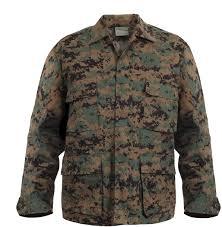 Woodland Digital Camouflage Marpat Bdu Shirt Fatigue Jacket Coat