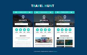 Websites Templates Delectable Travel Hunt A Mobile App Flat Bootstrap Responsive Web Template