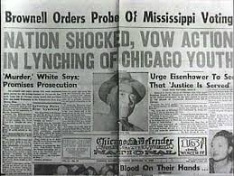 eng essay assignment fall  essay 3 emmett till murder case newspaper headline