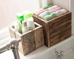 bathroom box storage. rustic wooden box bundle- gift idea, bathroom storage, garden planters storage