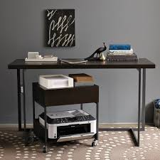 Printer stand ikea Ideas West Elm Flatbar Printer Caddy 19900 Rolling Printer Station Is Particularly Convenient If There Are Multiple People Printing To One Machine Apartment Therapy Under 200 Practical Printer Stands Apartment Therapy