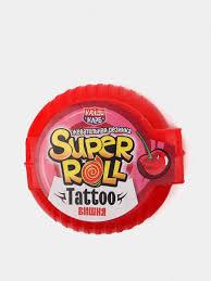 """<b>Жевательная резинка</b> """""""" <b>Super</b> Roll"""" с тату, 12 гр с доставкой за 1 ..."""