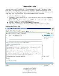 Cover Letter Email Format Sending Application Via Email Sample Deolastouch Co
