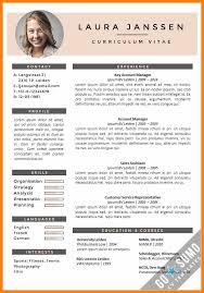 Example Curriculum Vitae 24 Curriculum Vitae Template Cv English 19