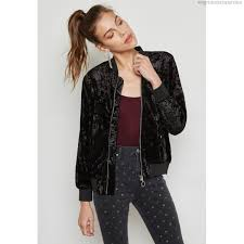 forever 21 crushed velvet er jacket black womens jackets fo057at36nah