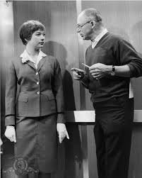 Shirley Maclaine And Billy Wilder On The Set Of The Apartment