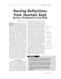 Pdf Nursing Reflections From Journaling During A