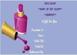 Nail Salon Gift Certificates Template Salon Gift Certificate