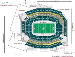 Lincoln Financial Concert Seating Chart Lincoln Financial Field Maplets
