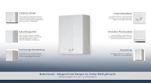 Hängeschrank Rampur 05 Farbe Weiß Glänzend 71 X 50 X 24 Cm H X