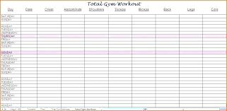 Workout Spreadsheet Template Training Sheet Template Training