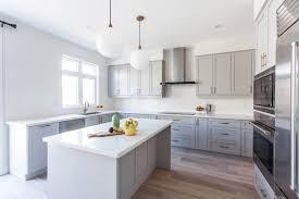 Soapstone Countertops Light Grey Kitchen Cabinets Lighting Flooring Sink  Faucet Island Backsplash Cut Tile Marble Ash Wood Cordovan Amesbury Door