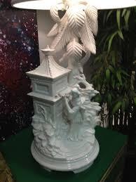 vintage blanc de chine lamp