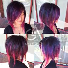 Aline Hair Style howto purple & wild orchid highlights on a disconnected aline 1521 by wearticles.com