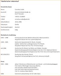 8 Lebenslauf Tabellarisch Reimbursement Format
