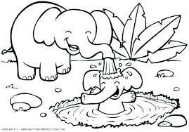 Cartoon Animals Coloring Pages Drawing Marvelous Animal Coloring