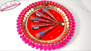Mehndi Tray Decoration DIY Mehndi thaal Decoration idea for wedding wedding crafts 1