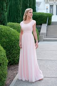 Light Pink Bridesmaid Dresses Long Us 108 22 8 Off Cecelle 2019 Light Pink Long Modest Bridesmaid Dresses With Cap Sleeves Beaded Ruched Scoop Neck Formal Wedding Party Dresses In
