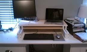 Make Your Own Computer Desk Diy Adjustable Desk For Under 25 Code Over Easy