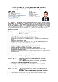 Import Export Specialist Sample Resume Fascinating Example Resume Objective Curriculum Vitae Exemple Top Export Manager