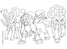 Pokemon Coloring Pages Eevee Evolutions Eeveelutions Colouring