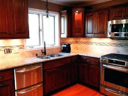 cherry cabinets with quartz countertops ideas for cherry cabinets