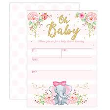 baby girl invite girl elephant baby shower invitation pink elephant baby shower jungle baby shower invite 20 fill in invitations and envelopes