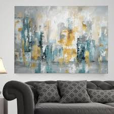 wall art paintings for living roomAbstract Paintings  Abstract Wall Art Youll Love  Wayfair