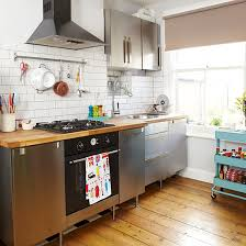 basic kitchen design. Plain Kitchen Portable Trolley And Storage Rails In A Small Kitchen And Basic Kitchen Design