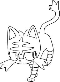 Disegno Di Litten Dei Pokemon Sole E Luna Da Colorare