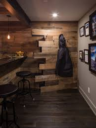 best basement design. Inspiration For A Rustic Dark Wood Floor Basement Remodel In Ottawa With Multicolored Walls Best Design E