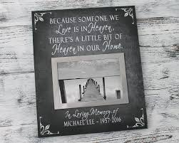 amazon personalized memorial gifts for loss of loved one because someone we love is in heaven in memory of loved one bereavement gifts in home