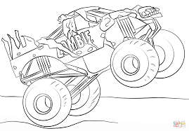Small Picture Zombie Monster Truck coloring page Free Printable Coloring Pages