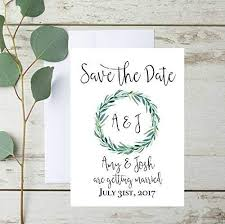 Save The Date For Wedding Rustic Save The Date Cards Rustic Save The Date Invitations Eucalyptus Wedding Save The Date Set Of 10 With Envelope Included
