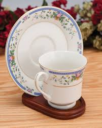 Cup And Saucer Display Stands Cup and Saucer Holders Wood Teacup and Plate Stand Set of 100 98