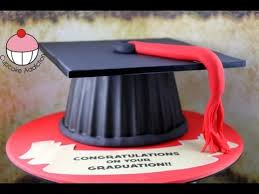 Make A Graduation Hat Cake Using Your Giant Cupcake Mould A