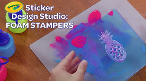 Sticker Design Studio Crayola New Crayola Sticker Design Studio Foam Stampers Crayola Product Demo