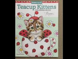 teacup kittens coloring book flip through
