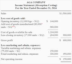Sample Traditional Income Statement Awesome Exercise48 Variable And Absorption Costing Income Statement