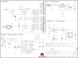 how to read a schematic learn sparkfun com schematic wiring diagram 440 kawasaki example of a sectioned schematic