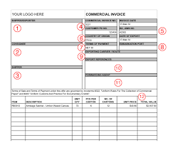 Commercial Invoice Export Documents And Commercial Invoice Template Designing Something