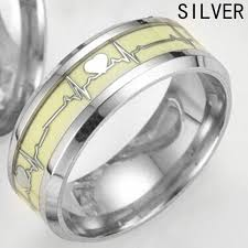 Cool Romantic Love Heart Decoration Luminous Ring Glowing In The Interesting Cool Romantic Love