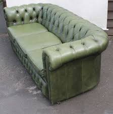 antique atla 1960 green chesterfield 3 seater leather leather chesterfield sofa fortable