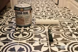how to seal tile floor how to paint and stencil tile sealer seal slate tile floor