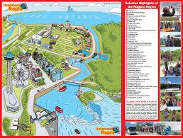 maps update  niagara falls tourist attractions map