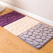 2019 40 60cm bathroom door mat 3d cobblestone memory foam carpet mat floor water absorb pad flower pebble rugs anti slip doormats from harriete