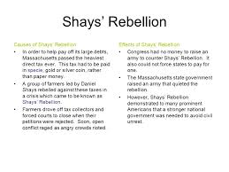 ssush the student will explain specific events and key ideas  5 shays rebellion
